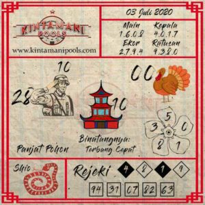 Kode Syair Pasaran Togel Online Kintamani Pools 3 July 2020